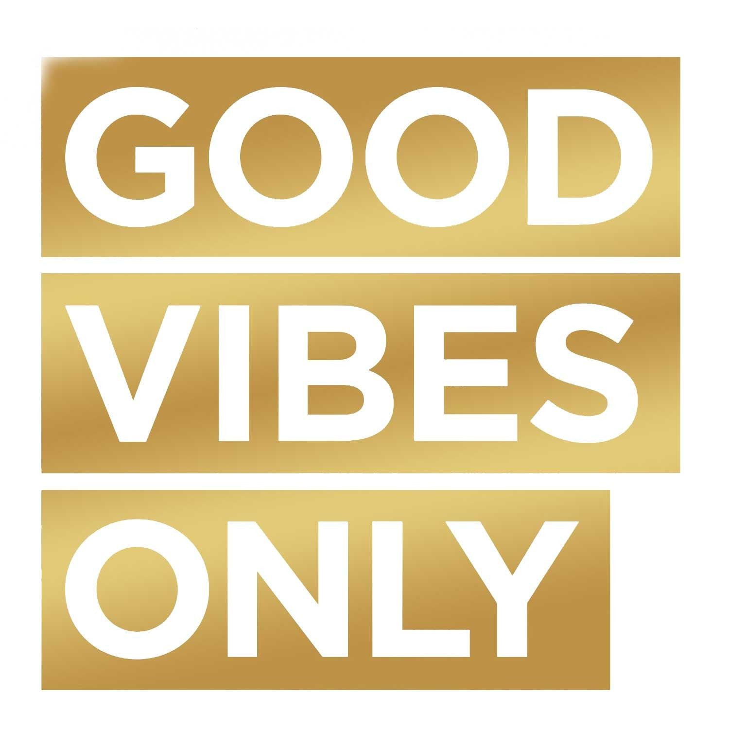Good Vibes Only Decal - Gold Small