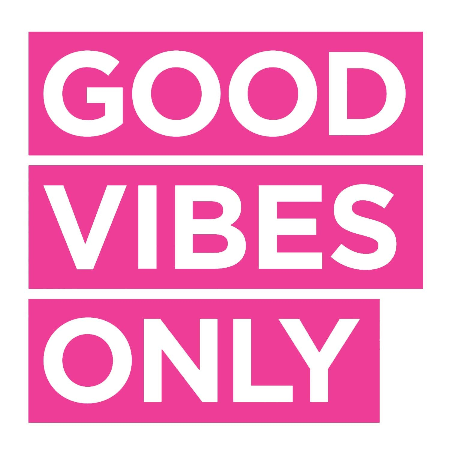 Good Vibes Only Decal - Pink Small