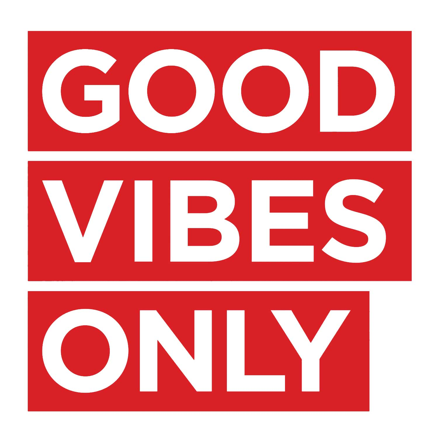 Good Vibes Only Decal - Red Small