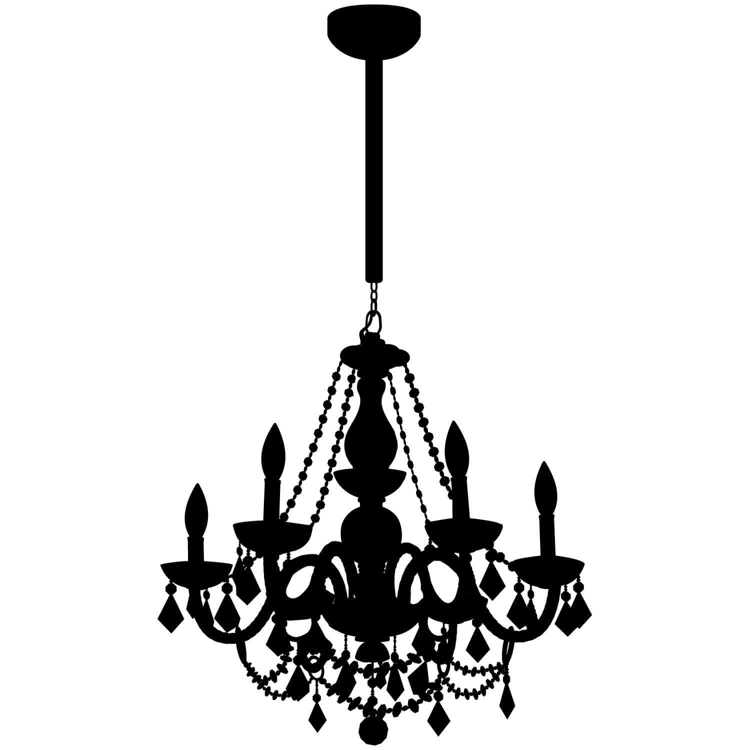 dorm wall decals room decals removable decals dormify chain chandelier decal