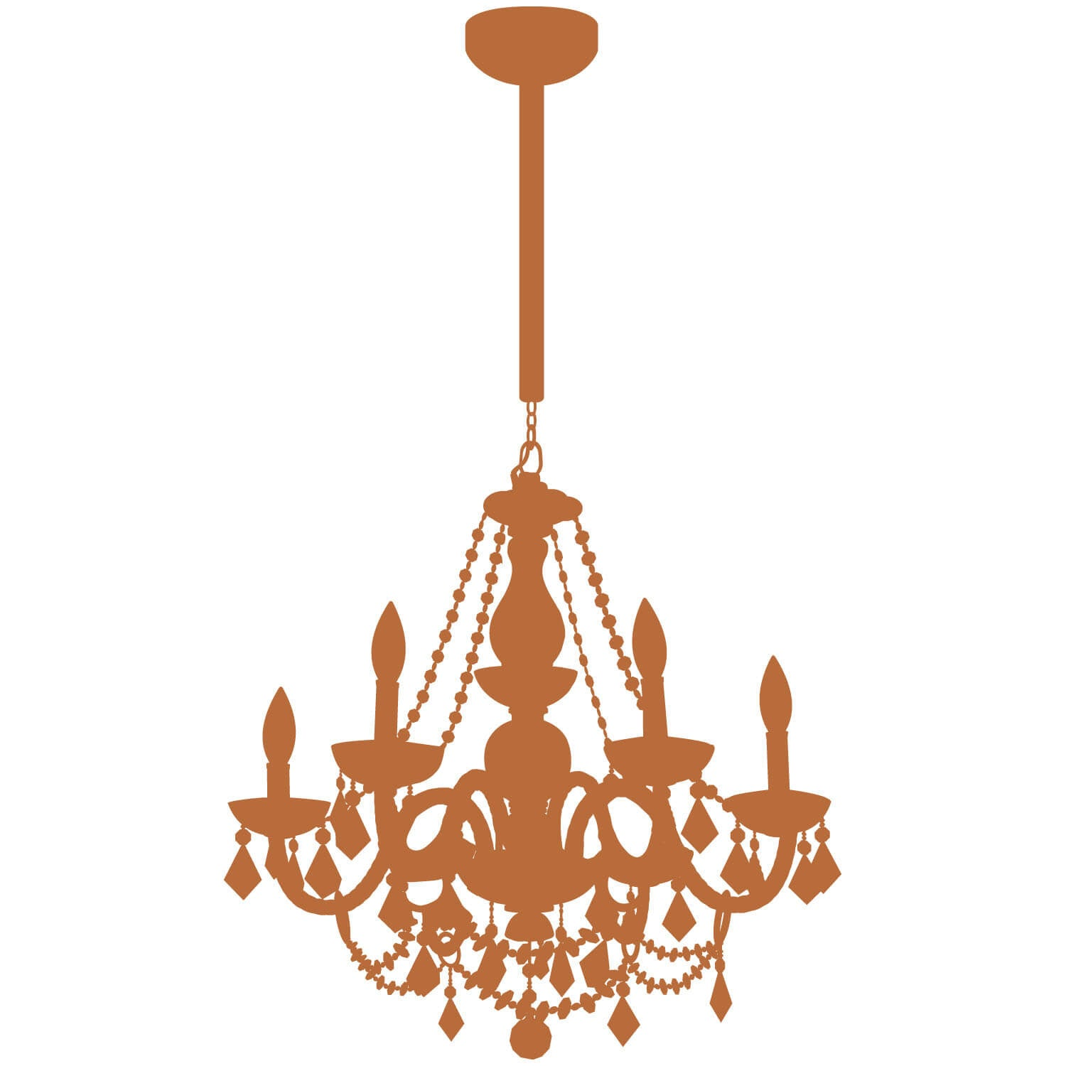 Chain Chandelier Decal - Copper