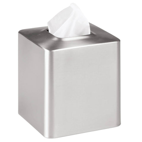Silver Square TIssue Box