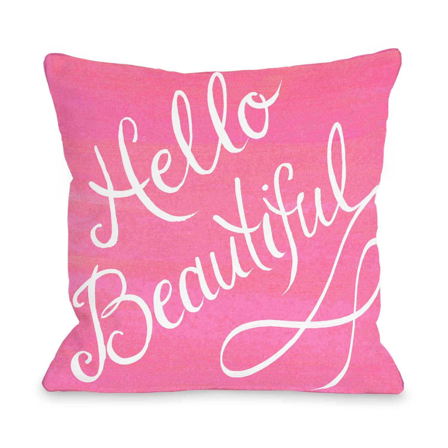 Beautiful Decorative Bed Pillows : Hello Beautiful Script Pillow by Timree Gold? Dormify