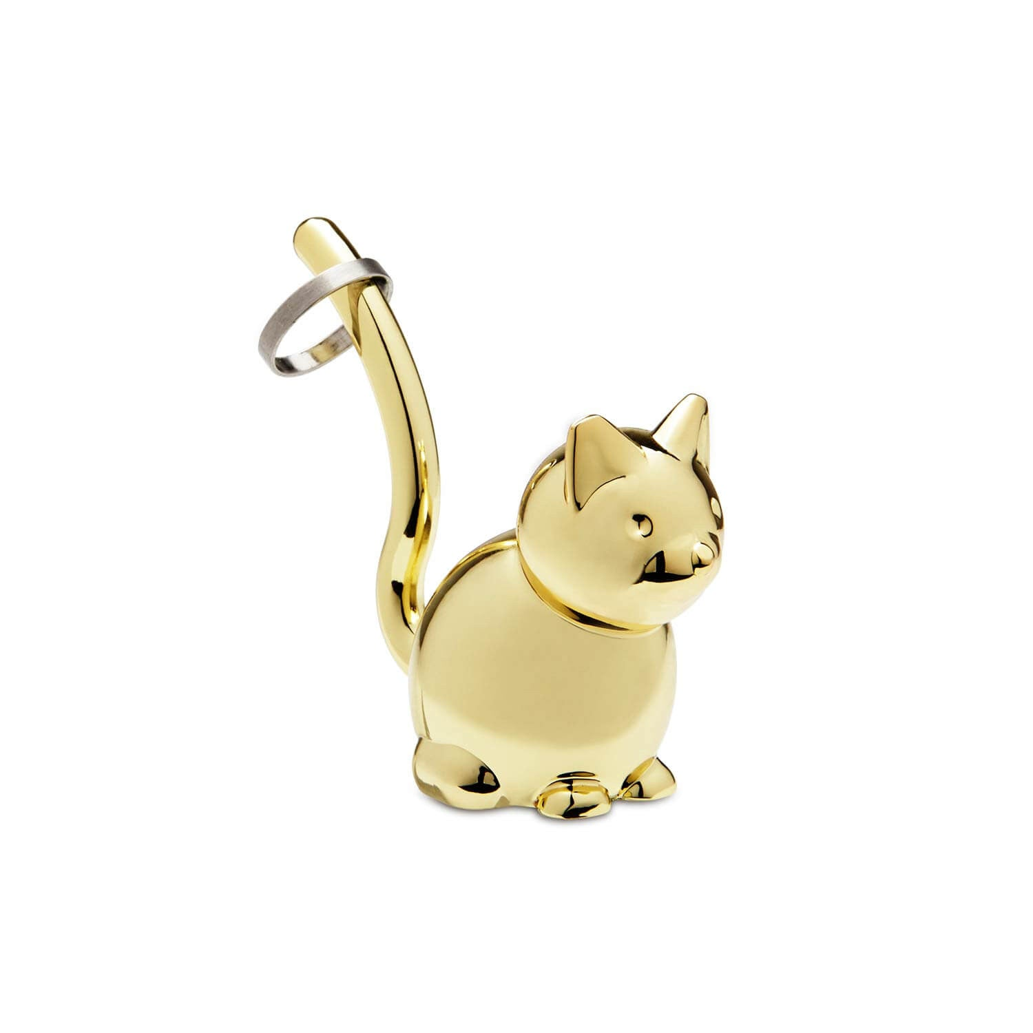 Cat Ring Holder - Brass