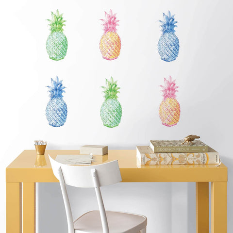 Pop Pineapples Wall Art Decal Set