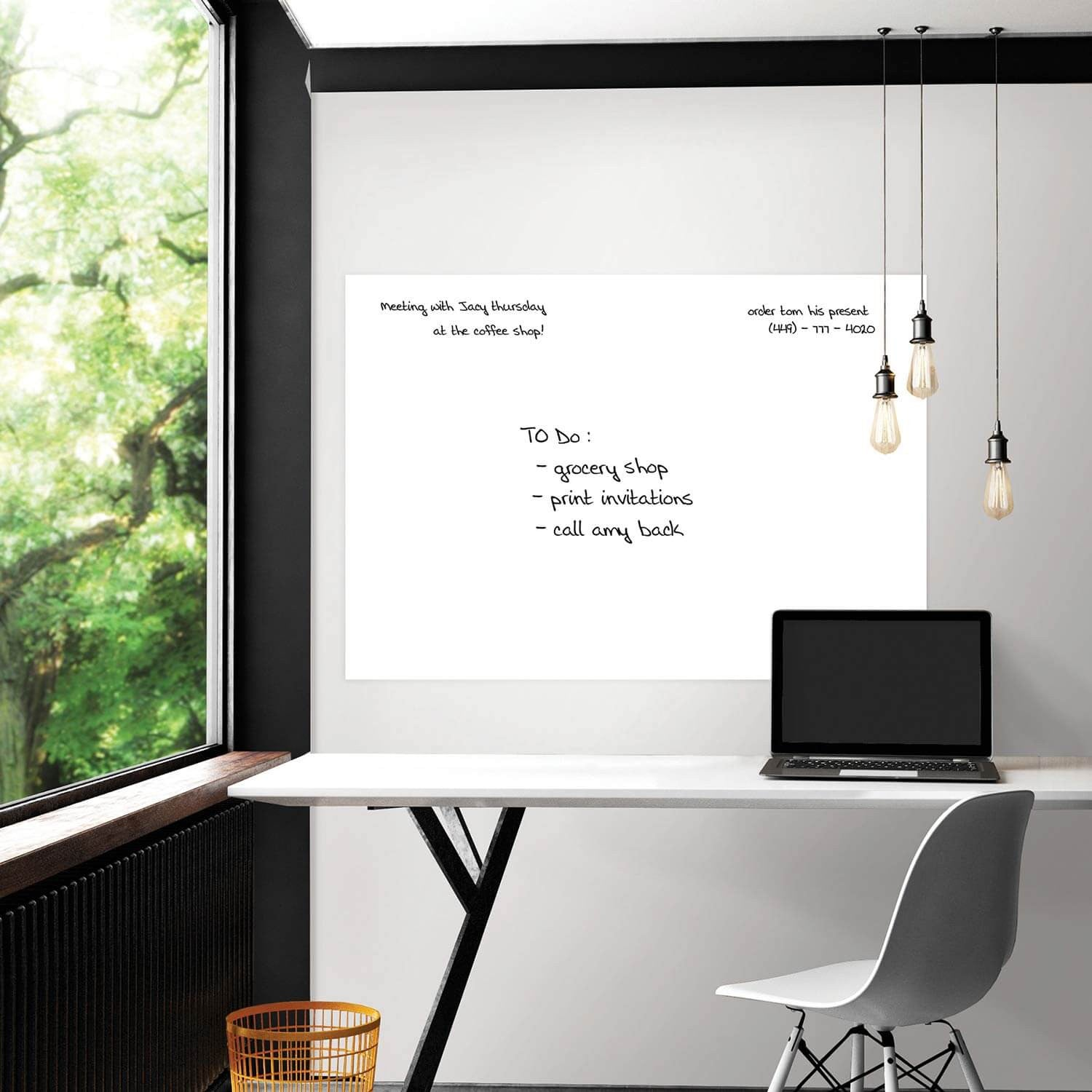 White Giant Dry Erase Decal