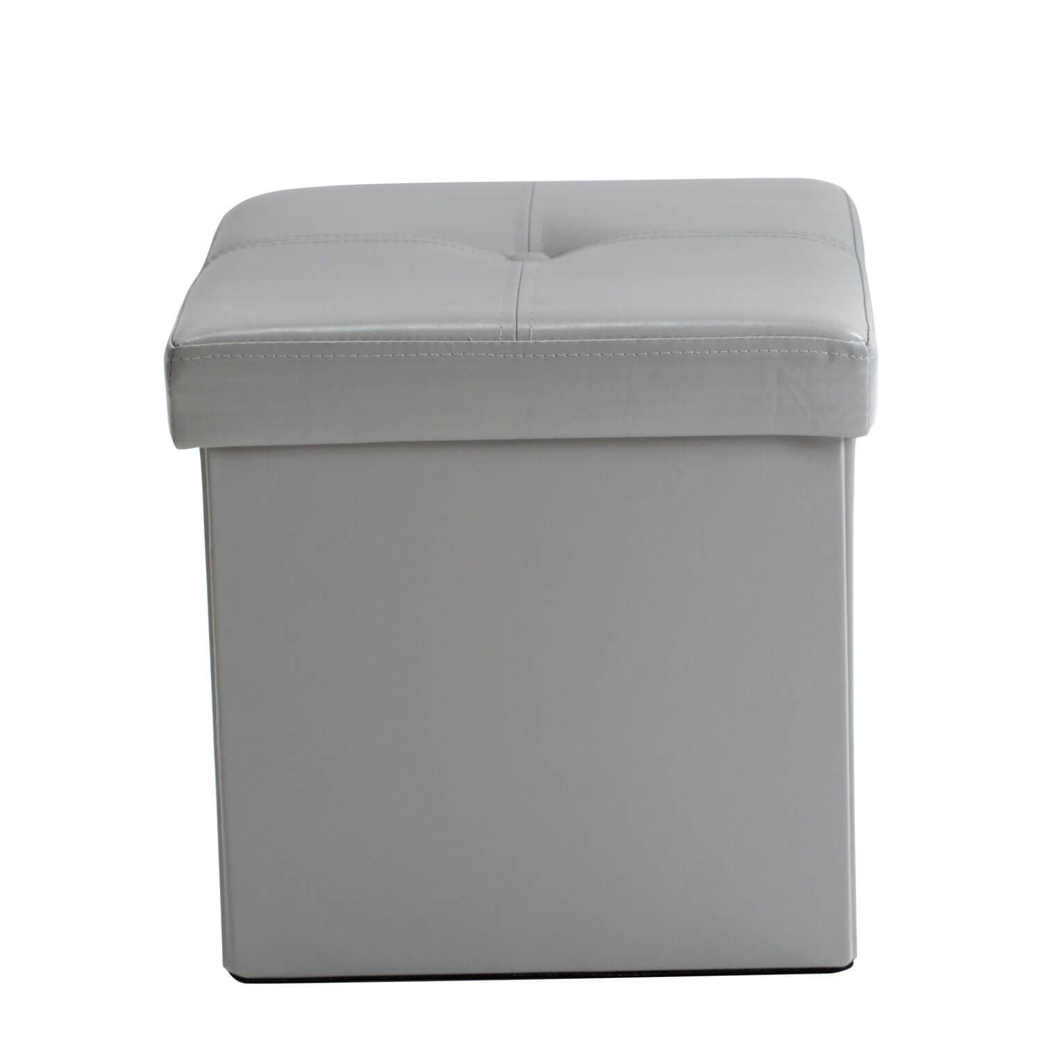 Single Collapsible Storage Ottoman - Grey