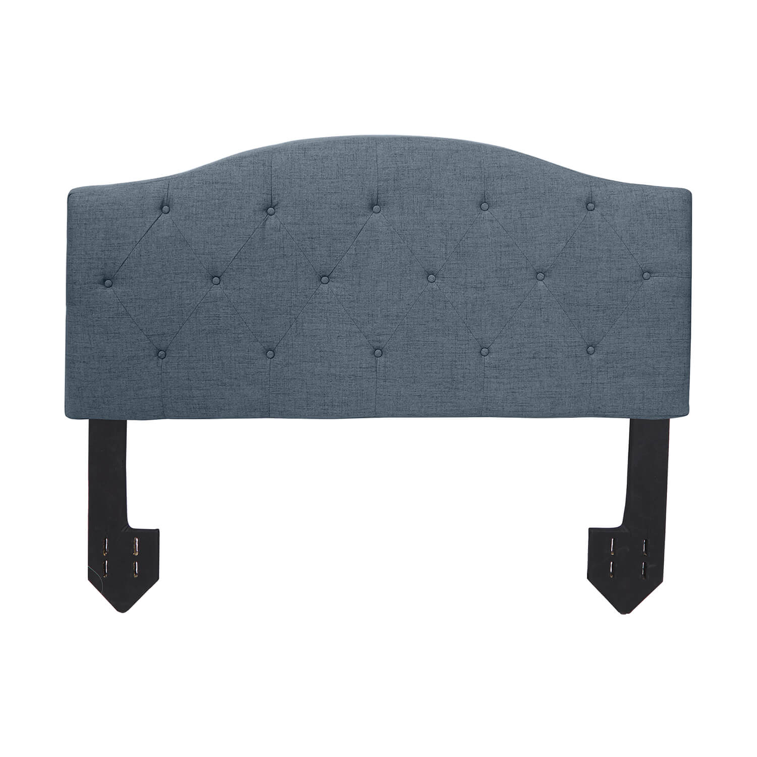 Diamond Tufted Powered Headboard - Charcoal Queen