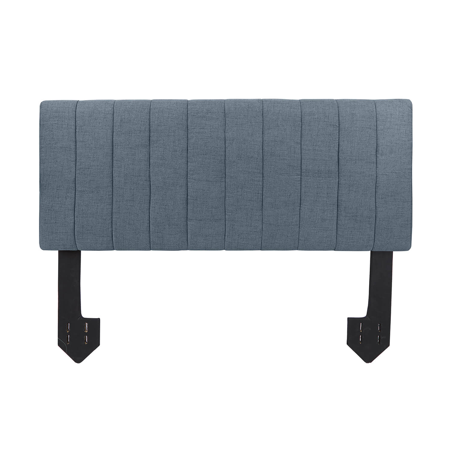 Pleated Powered Headboard - Charcoal Queen