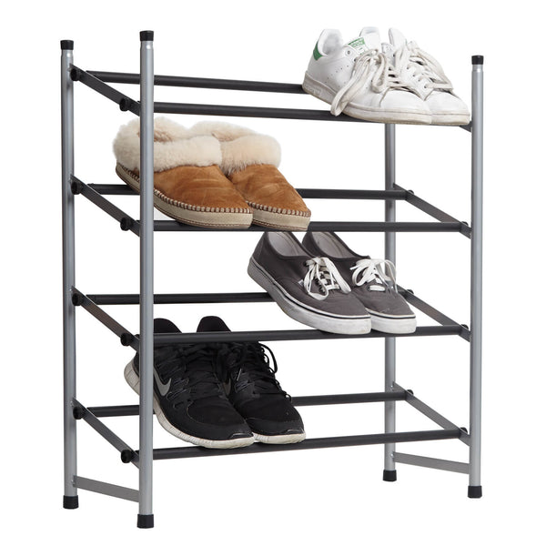 4 Tier Expandable Grip Shoe Rack Dormify
