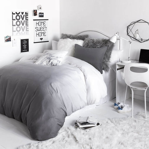 Grey Ombre Duvet Cover and Sham Set