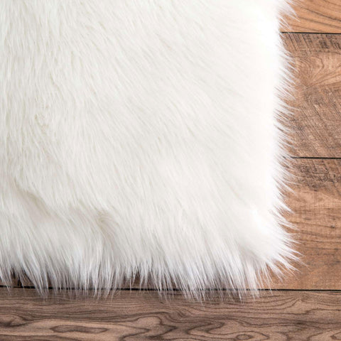 Faux Sheepskin Area Rug