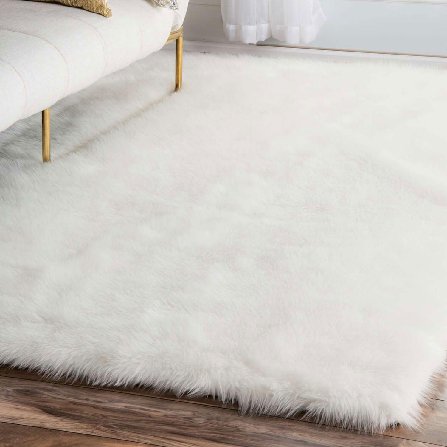 Faux Sheepskin Area Rug Dormify