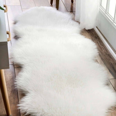 Faux Sheepskin Accent Rug