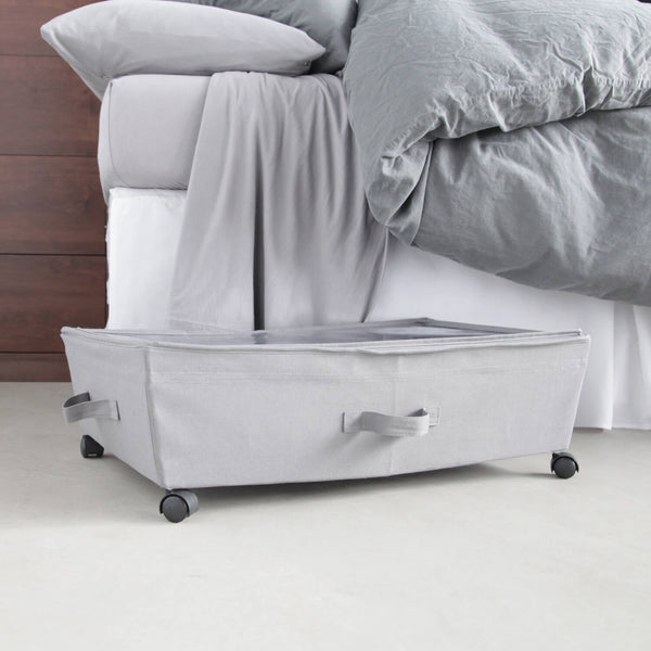 Under the bed storage bin on wheels dorm storage dormify - Dorm underbed storage ideas ...