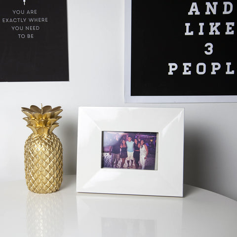 Gold Pineapple Candle Large