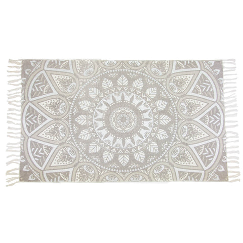 Silver and Grey Medallion Accent Rug