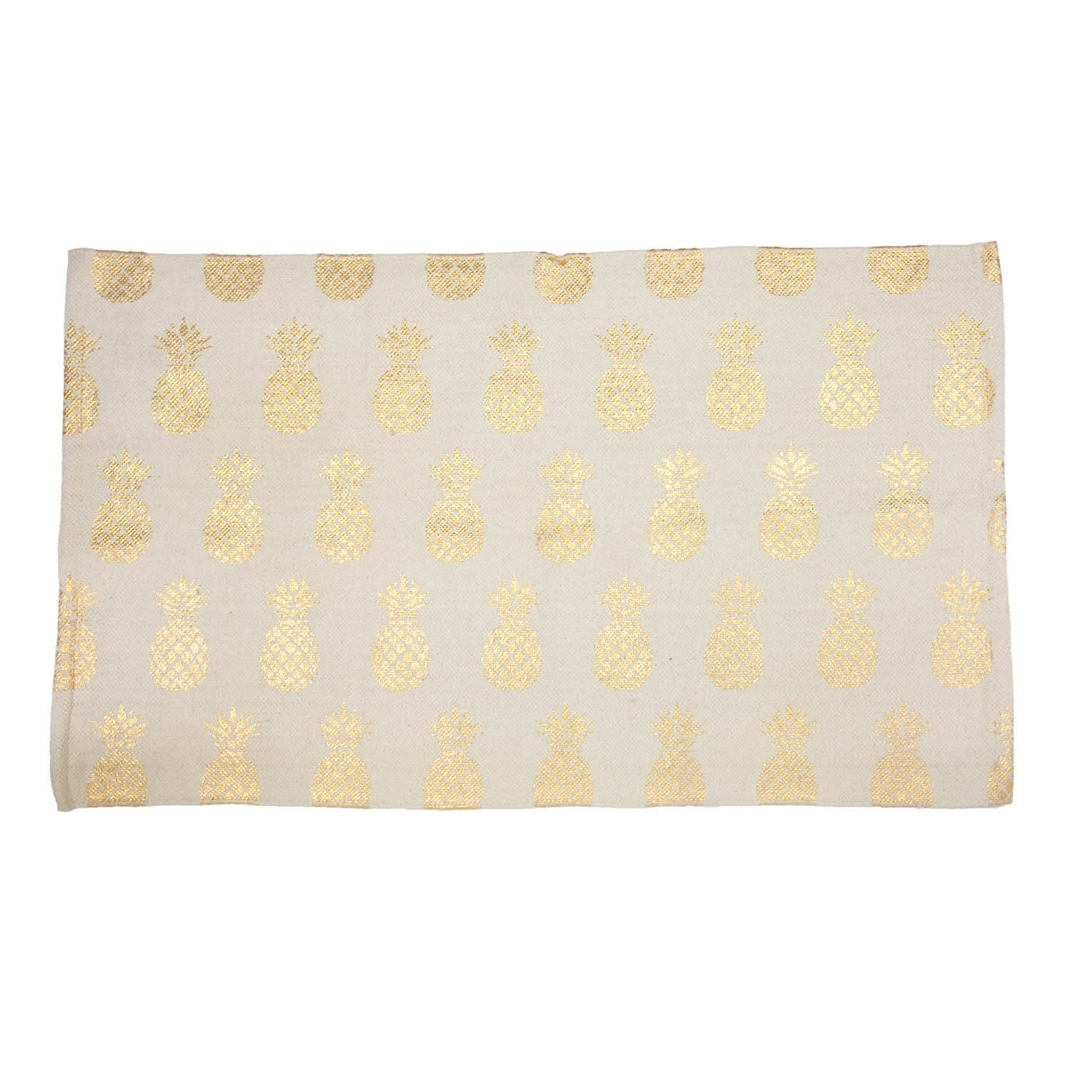 Pineapple Gold Foil Printed Accent Rug