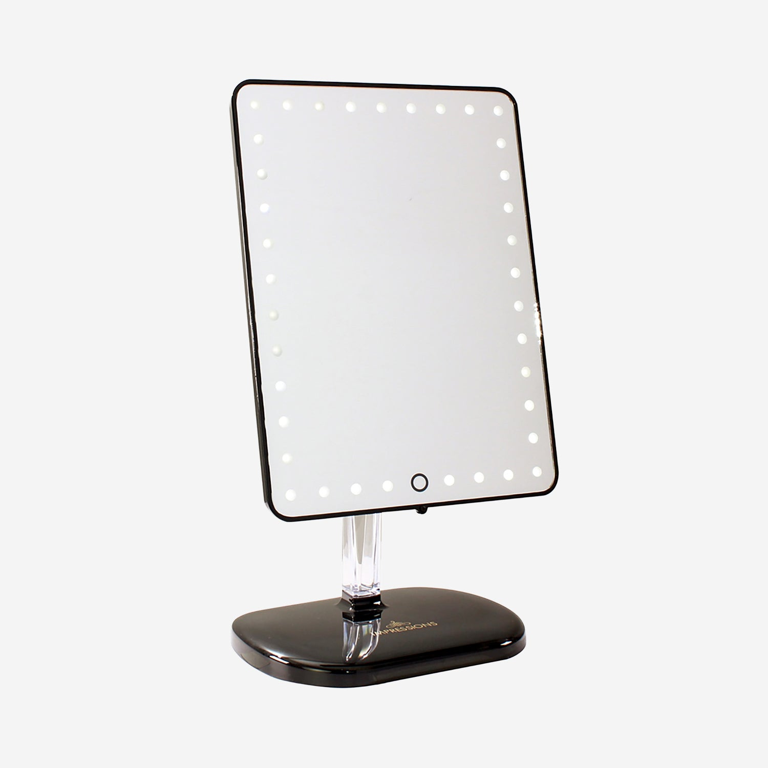 vanity mirror with audio and speakerphone - black | decor