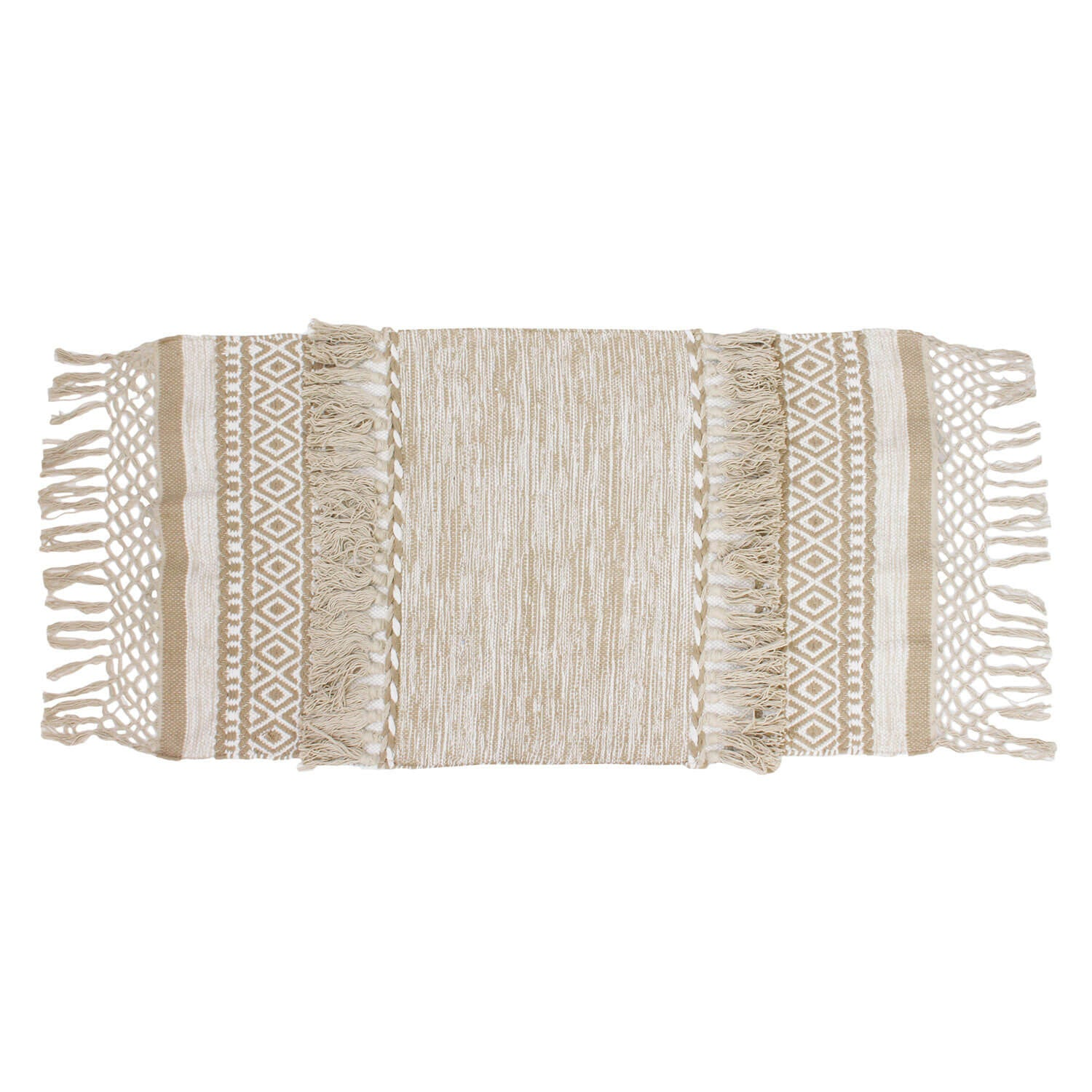 Venice Hand Woven Tassel Accent Rug - Natural