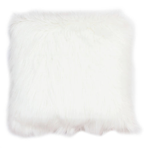 Faux Mongolian Square Pillow - Back To Back Fur