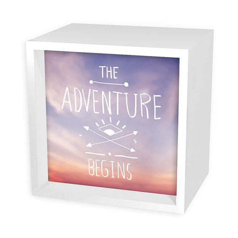 The Adventure Begins Light Box