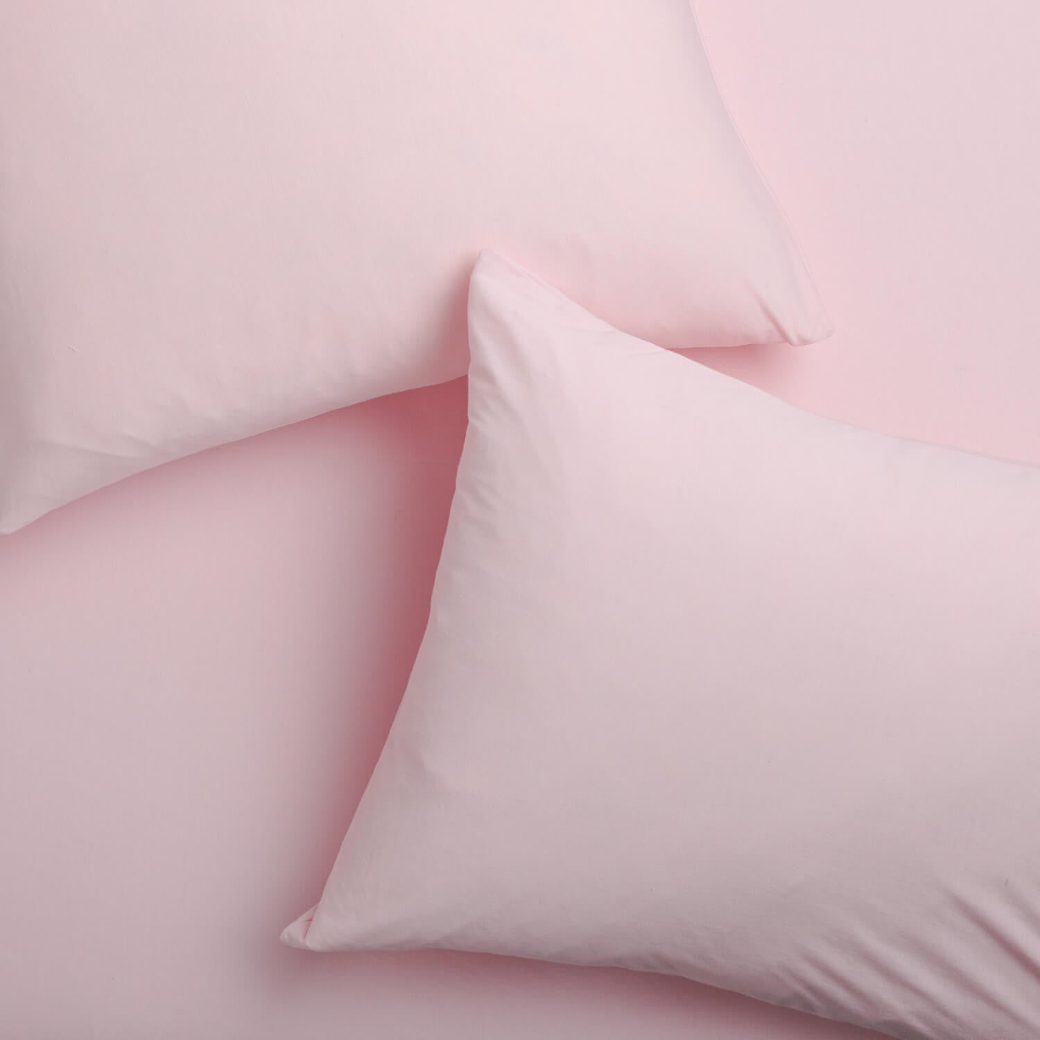 Super Soft T-Shirt Jersey Pillowcase Set - Light Pink - Light Pink
