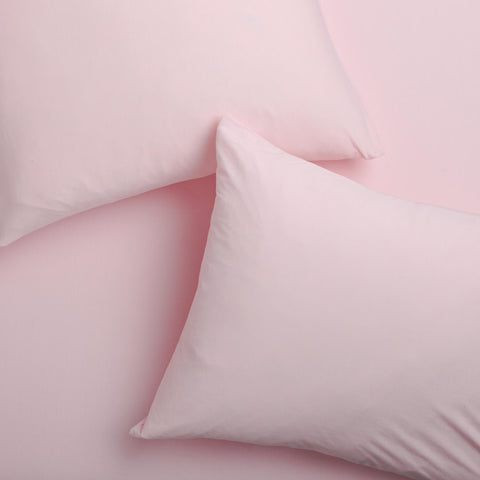 Super Soft T-Shirt Jersey Pillowcase Set - Light Pink