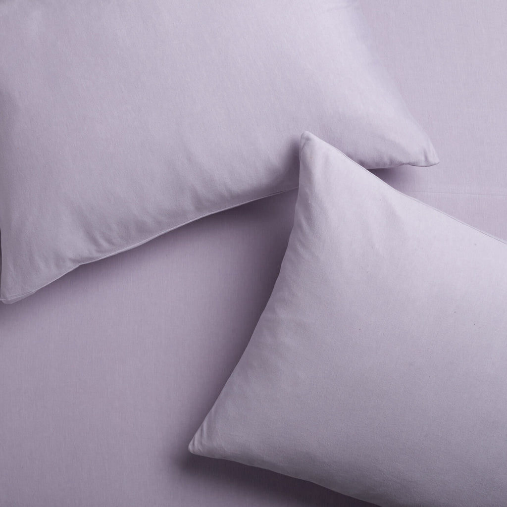 Super Soft T-Shirt Jersey Pillowcase Set - Light Purple