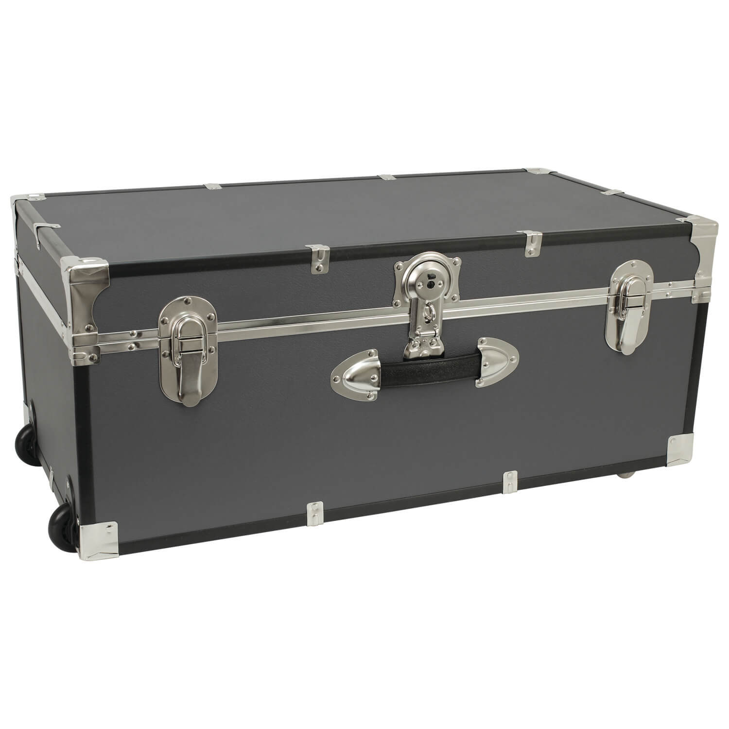 Large Luggage Trunk with Wheels - Grey