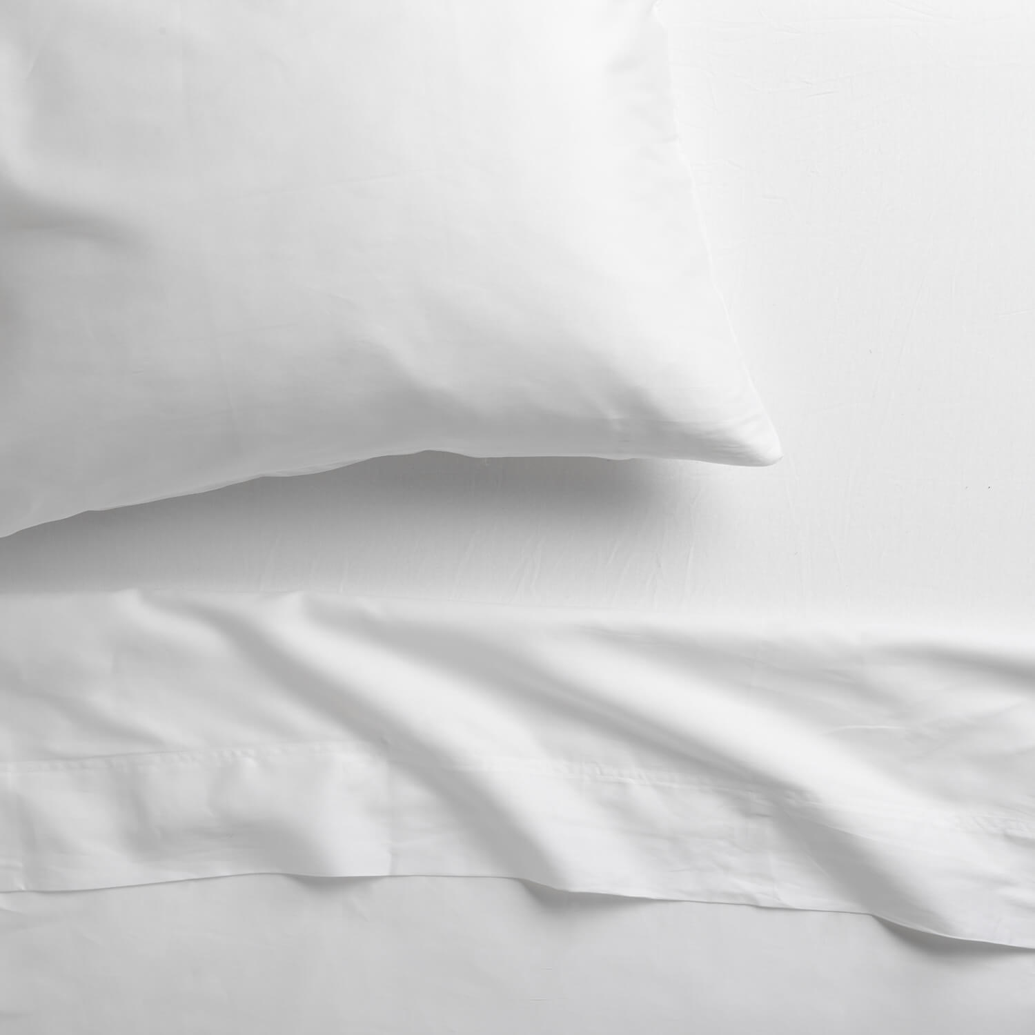 Deluxe Sheet Set, 300 Thread Count, 100% Cotton Sateen - Bright White Twin