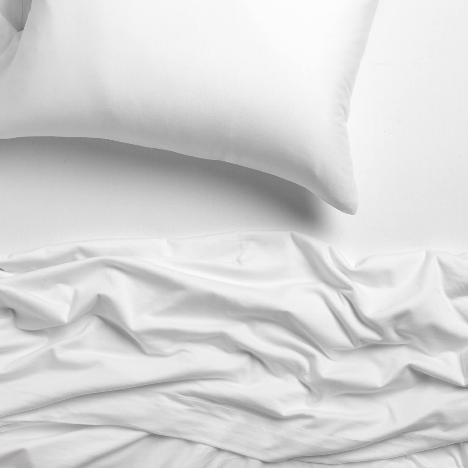 Deluxe Soft Tee Jersey Sheet Set - Bright White Twin/Twin XL