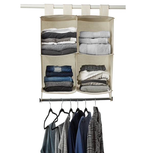 Hanging Cube Organizer with Hanging Rod