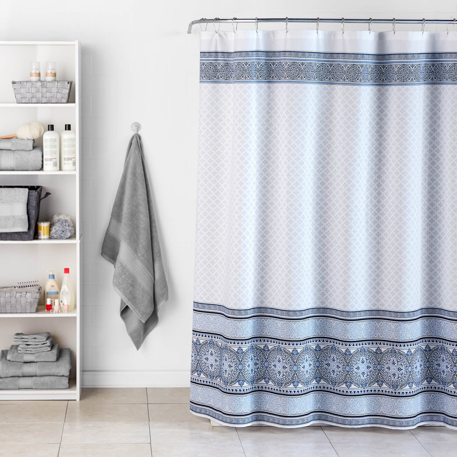 Medallion Border Shower Curtain