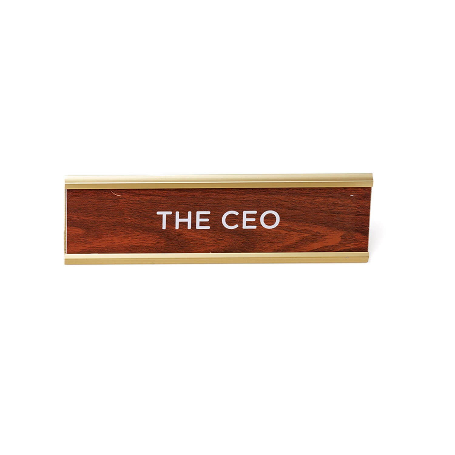 Wood Desk Name Plate - THE CEO