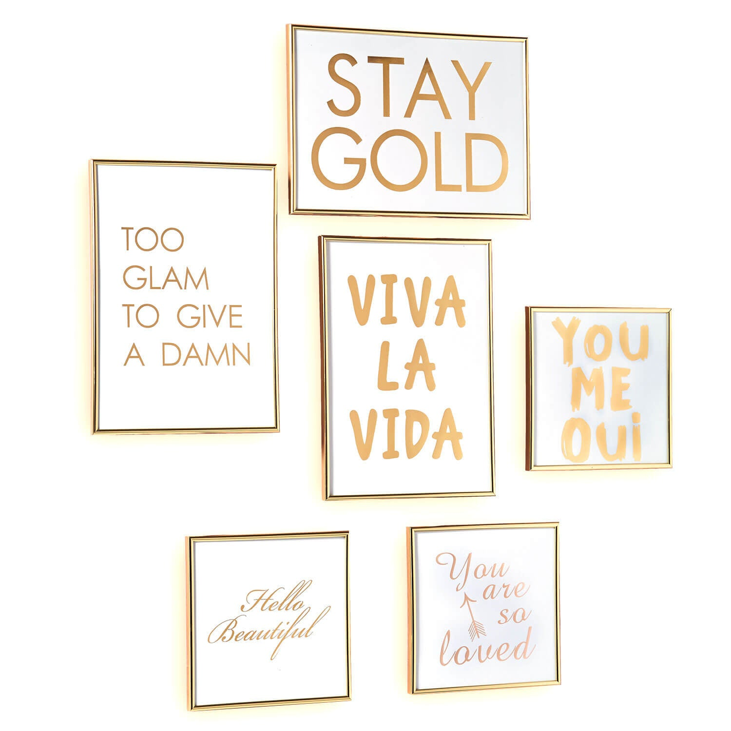 Gold Glam Gallery Wall Set of 6