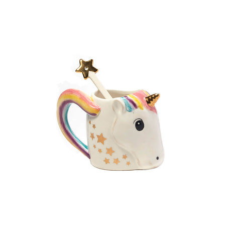 Unicorn Mug with Star Stirrer