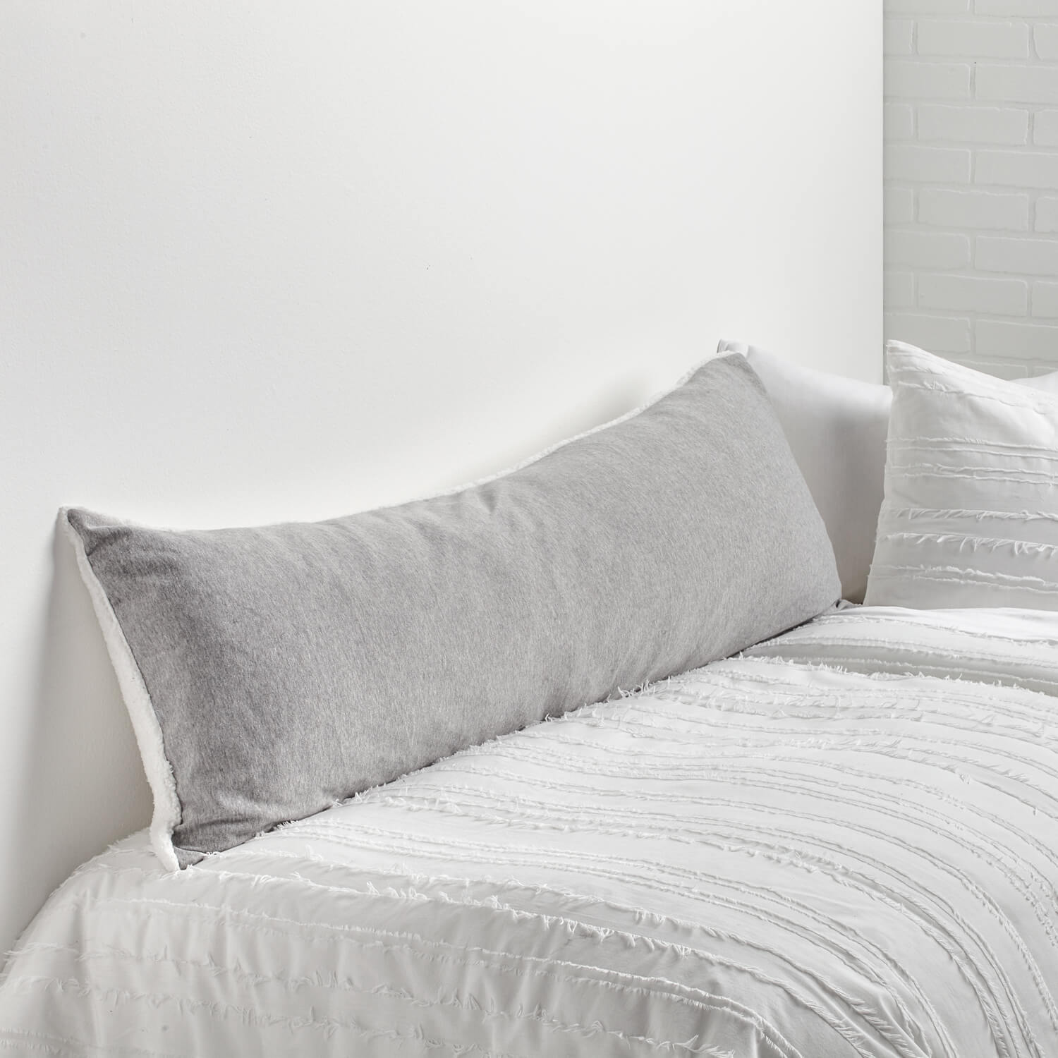 sweatshirt/sherpa body pillow cover | bedding