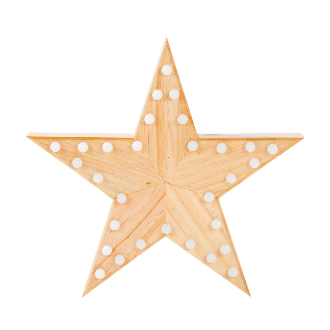 Wooden Star Marquee Light – Dormify