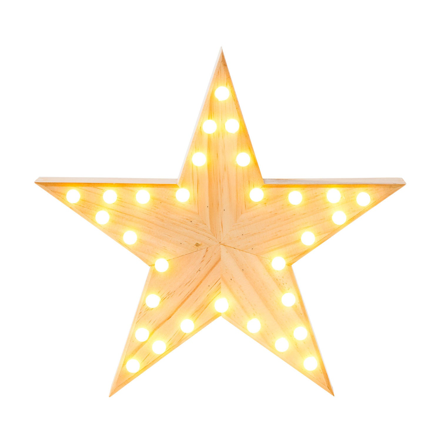 Wooden Star Marquee Light