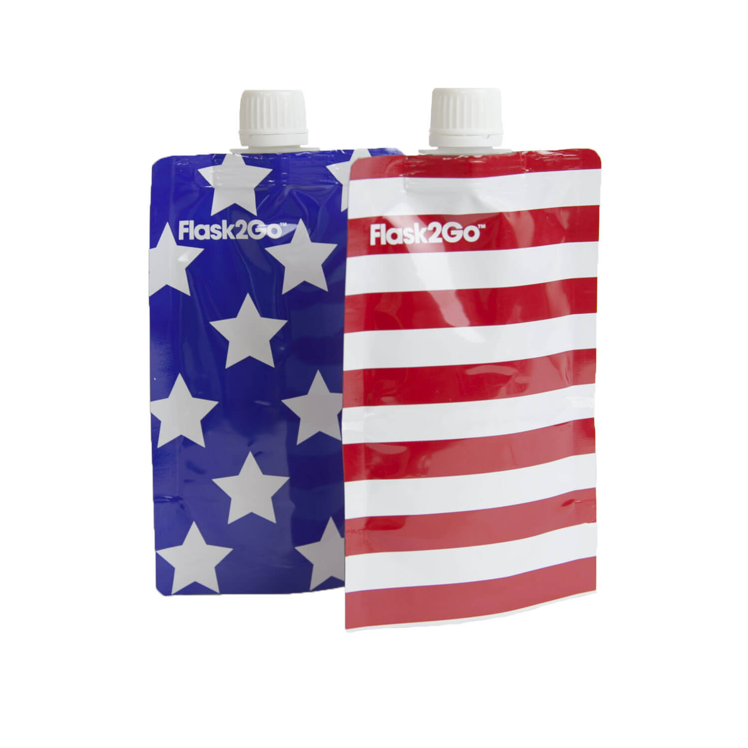 Flask 2 Go - The Disposable Flask (Set of 2) - Stars and Stripes