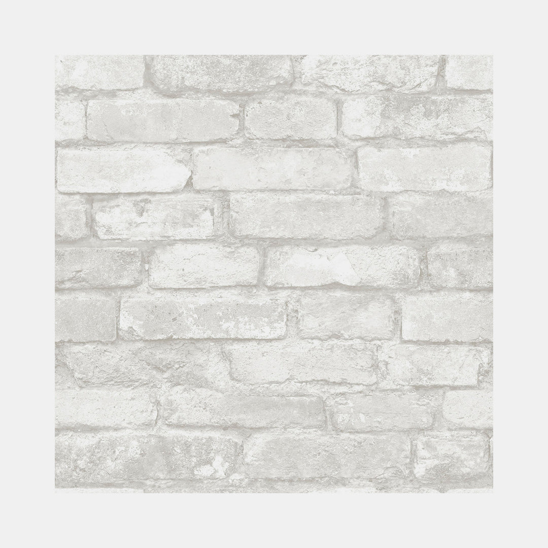 Grey And White Brick Removable Wallpaper Dormify