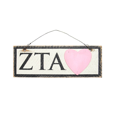 Zeta Tau Alpha Small Wooden Sign