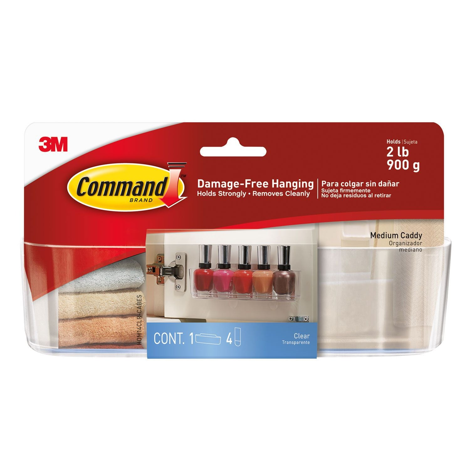 Command™ Clear Medium Caddy