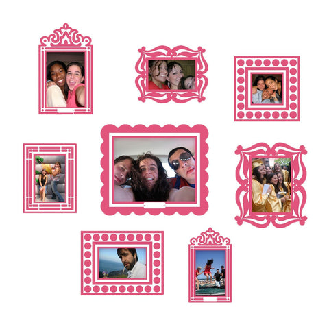 Pink Sticker Frame Set