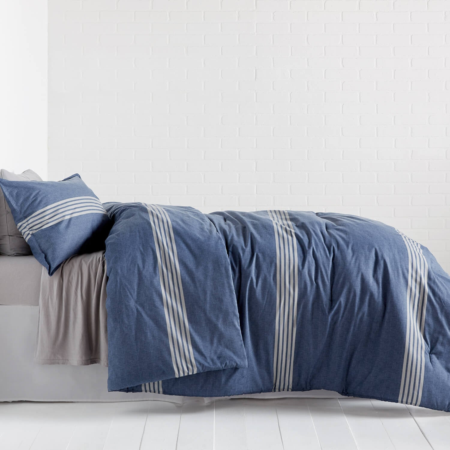Stanton Stripe Comforter and Sham Set - Twin