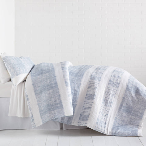 Tide Stripe Textured Comforter and Sham Set