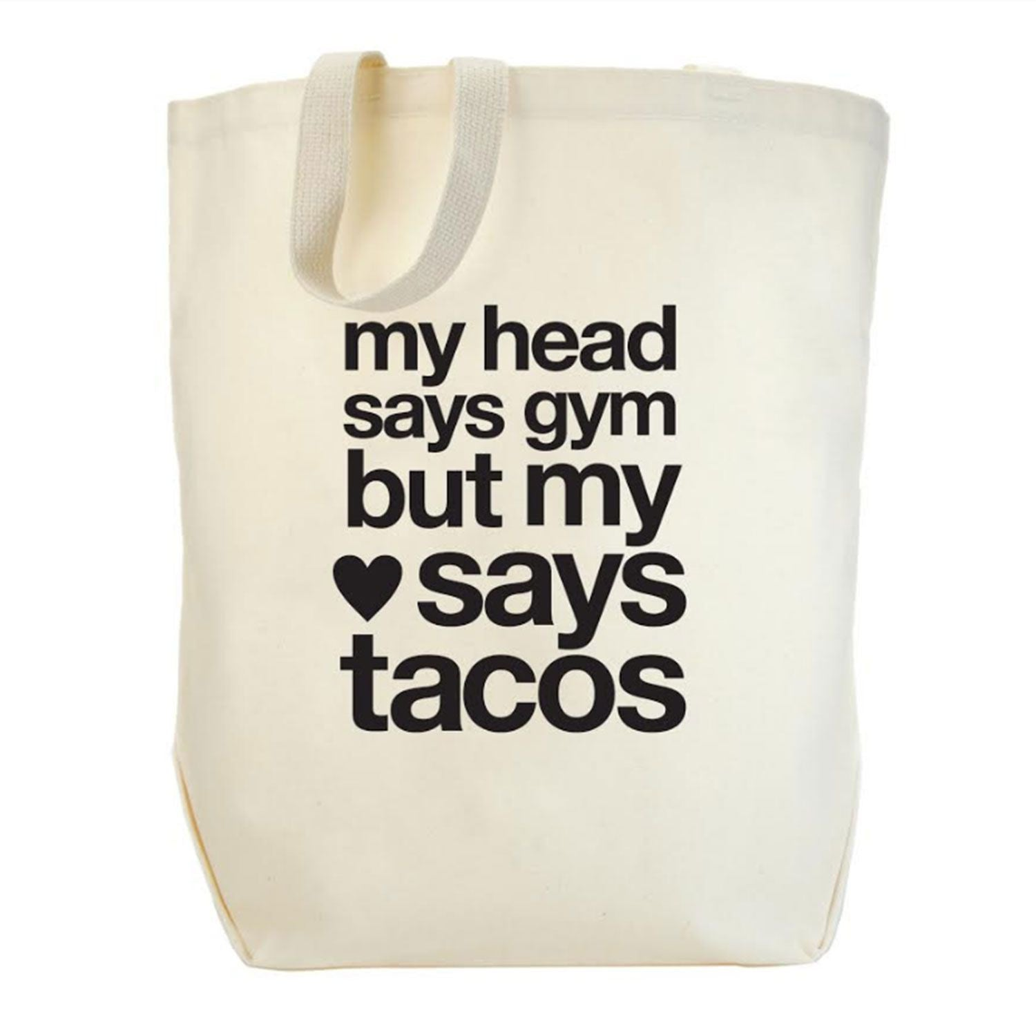 my heart says taco tote | gifts