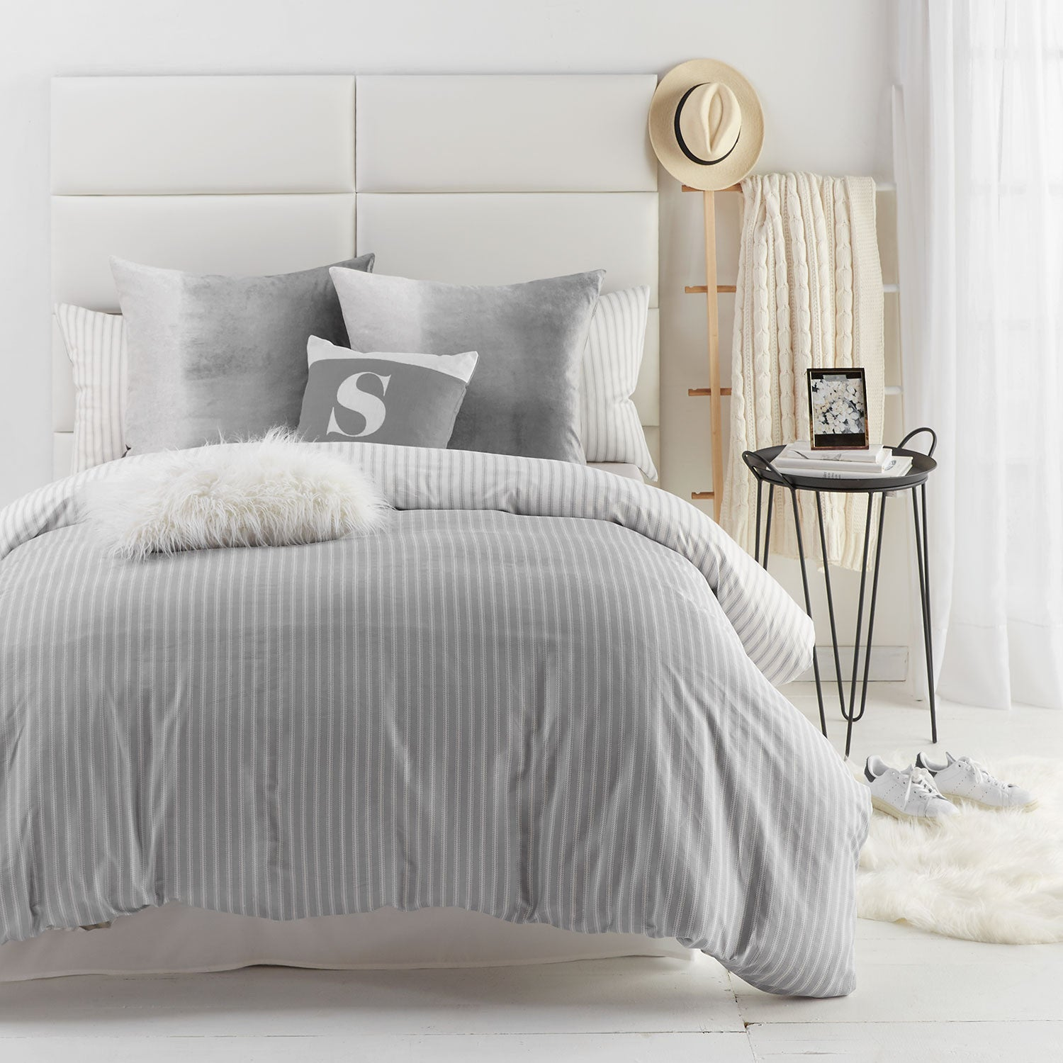 Hampton Stripe Duvet Cover and Sham Set - Twin
