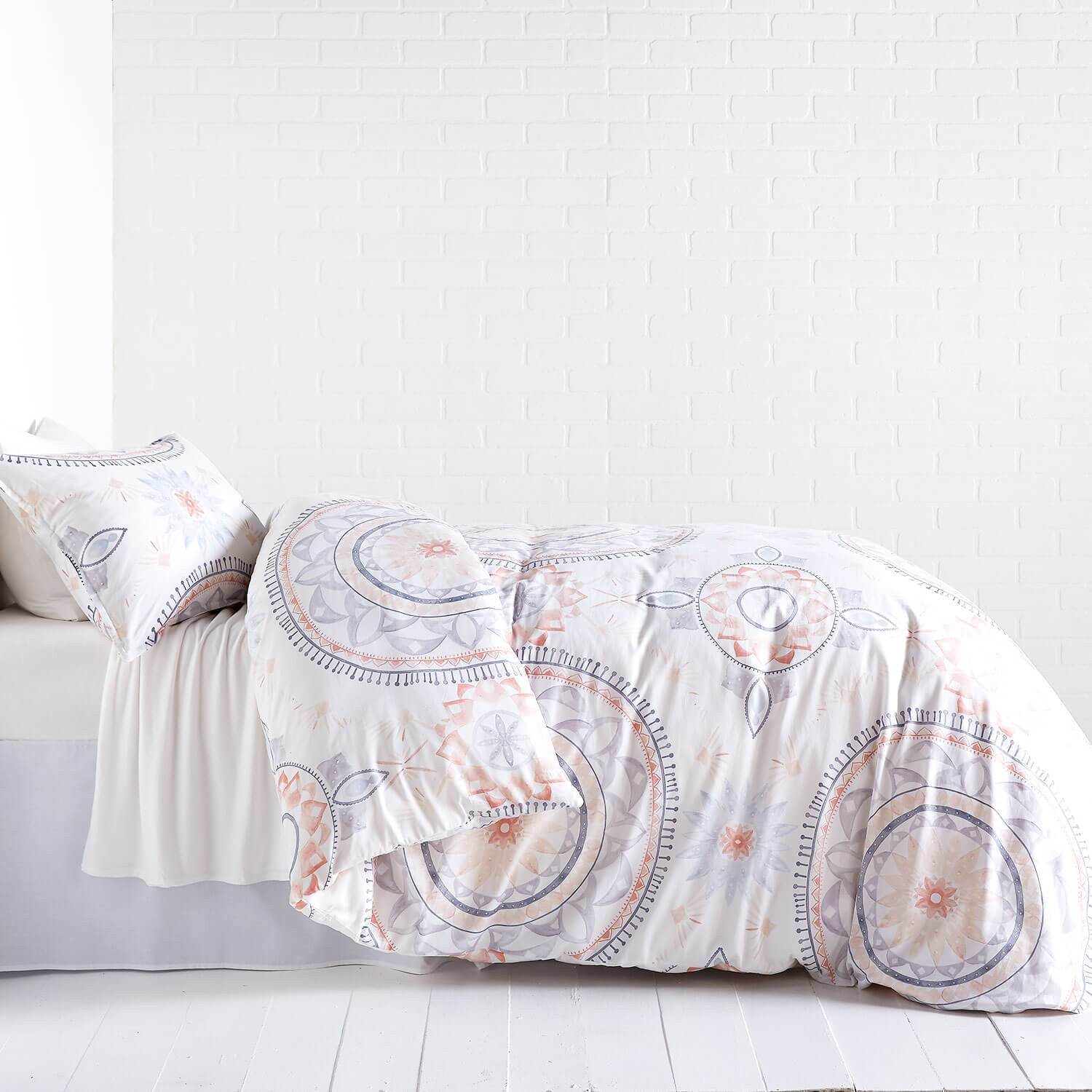 Painted Medallion Duvet Cover and Sham Set - Twin